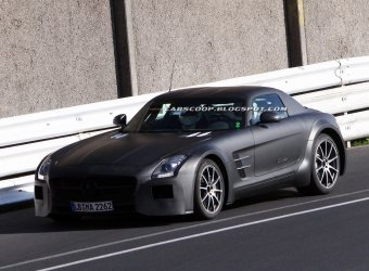 AMG тестирует прототип Mercedes-Benz SLS AMG Black Series