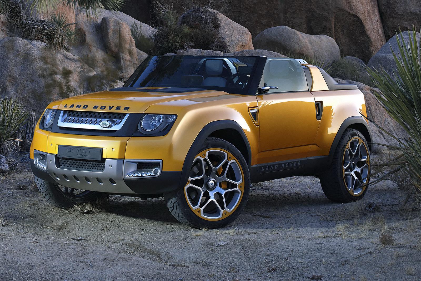Land rover привезет в лос-анджелес обновленный концепт dc100