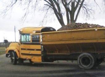 Гибрид школьного автобуса и дорожной спецтехники
