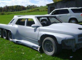 Сумасшедший 10-колесный кастом на базе старенького седана Buick Lesabre
