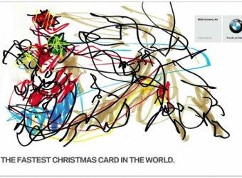 Самая быстрая в мире открытка к Рождеству от BMW