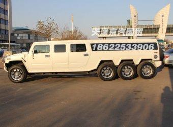 Китайцы собрали восьмиколёсный лимузин на базе Hummer H2
