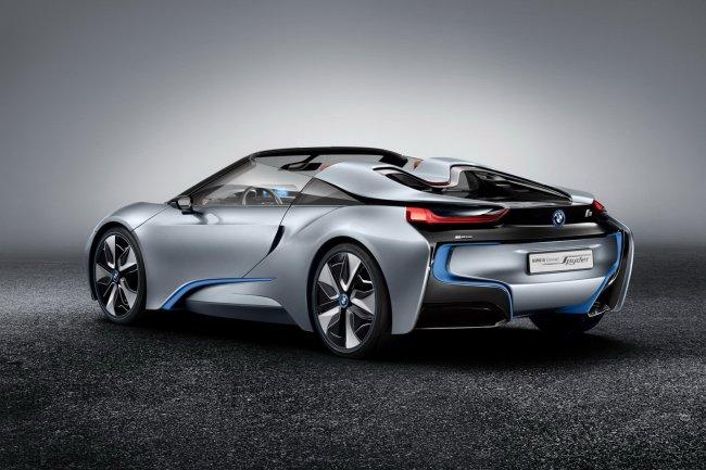 Официальные фотографии и скетчи открытой версии концепта BMW i8
